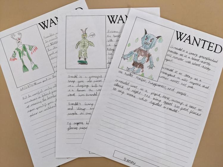 Some of our wanted posters for Grendel the Monster