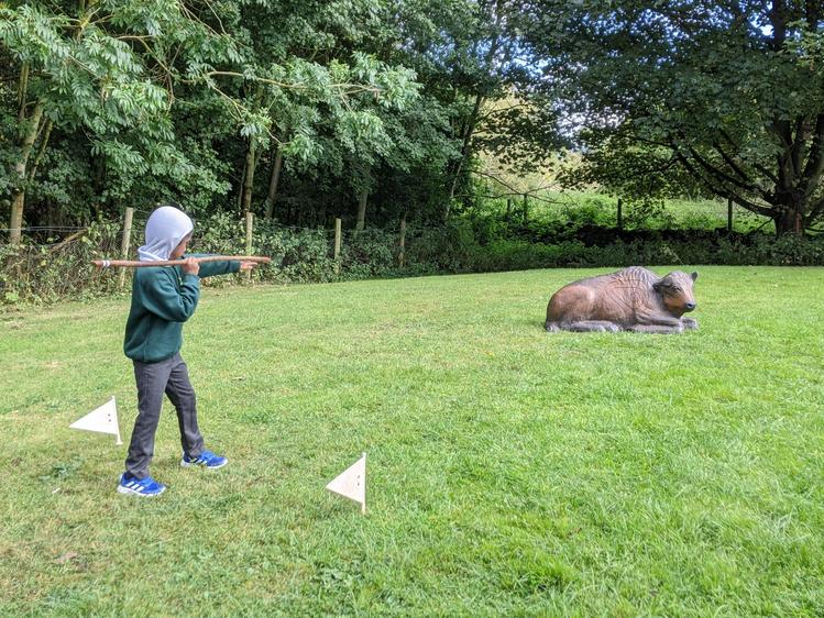 We saw what a difference a spear thrower makes!