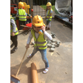 Keeping the building site safe by keeping it tidy