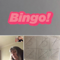 Getting the family involved in a game of Bingo. Lovely!