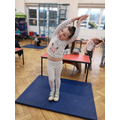 Keeping fit doing yoga