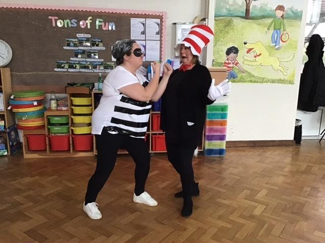 Gangster granny and cat in the hat
