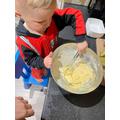 Alfie baking a cake...yum