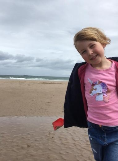 Phoebe on Bamburgh beach last year 🌟