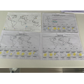 Minnie's great weather detective work and wold map