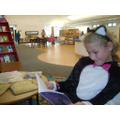 Hannah enjoying a good book!