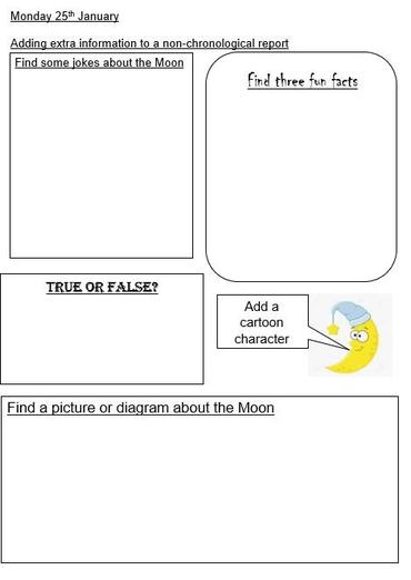 Fill in your ideas on this sheet