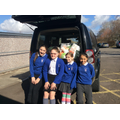 Y6 loading donations for the Foodbank