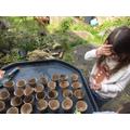 Ella planting seeds