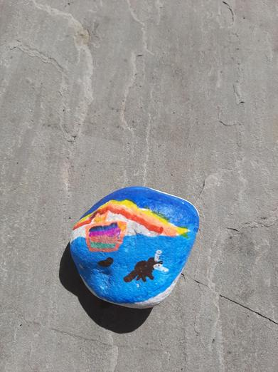 Amelia's painted pebble.