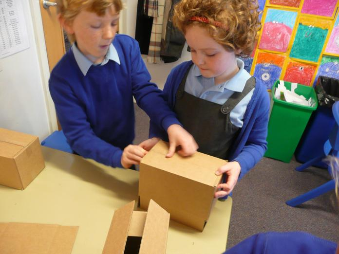 Constructing our boxes.