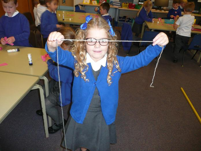 Some made worms from wool and measured them.