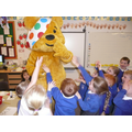 We had a visit from Pudsey Bear!