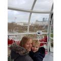 Inside a pod on the London Eye