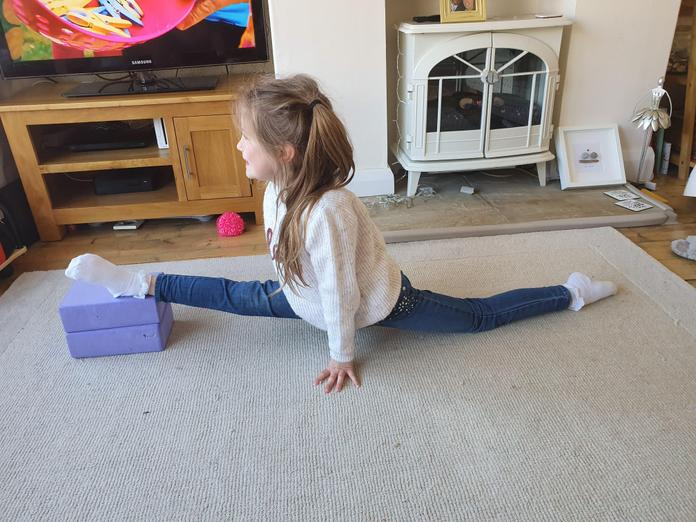 Amazing strength and flexibility!