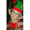 Max looking super in his elf outfit!