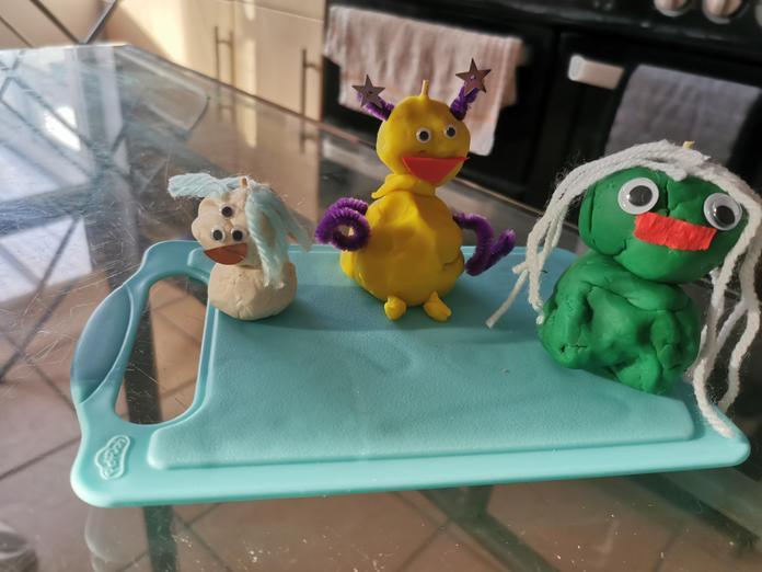 Lily's (2D) playdough aliens