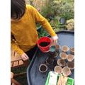Harry planting seeds