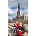 Reading on a sunny day in Blackpool!