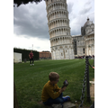 Reading by the Leaning Tower of Pisa!