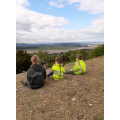 Admiring the view from Arnside Knot