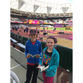 Reading at the athletics in London