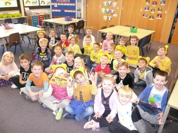 Children in Need - yellow, spotty and fabulous!
