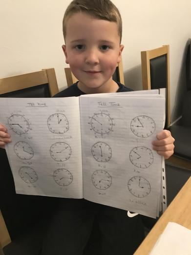 Excellent work on telling the time.