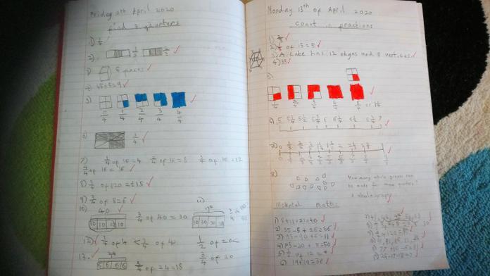 Terrific work on fractions, James!