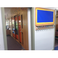 Looking into our classroom from the corridor