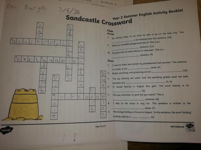 I love a good crossword, Ben!