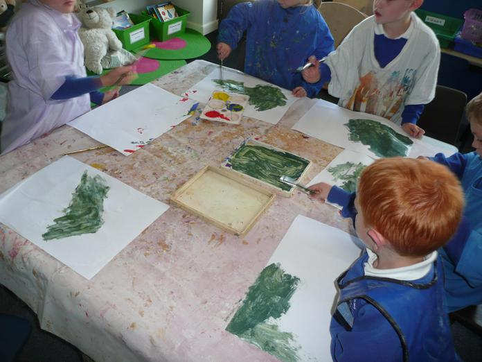 Painting our papers.