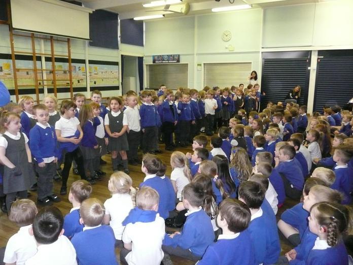 Reception performed nursery rhymes.