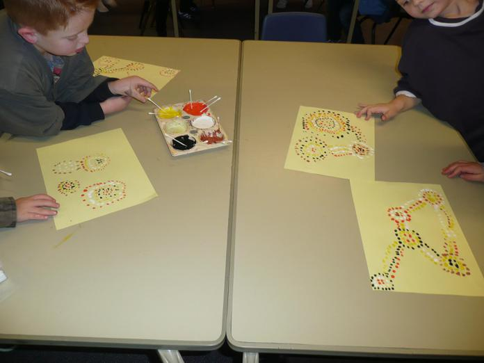 We used symbols in our patterns.