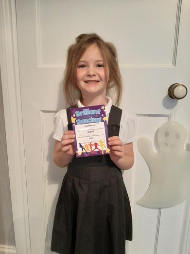 Halloween Dance certificate for this little superstar!