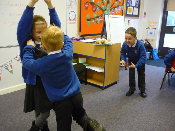 Jack climbed down the beanstalk quickly!
