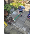 Reuben helping out in the garden!