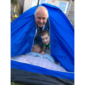Camping out in the garden