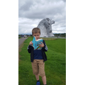 Reading to the Kelpies in Falkirk, Scotland