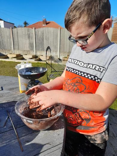 Making chocolate slime