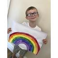 Fantastic rainbow painting