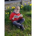 Reading in a lovely spring setting!