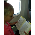 Reading at 35000 feet!