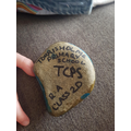 One of our pebbles found in Bolton!