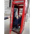 A red telephone box
