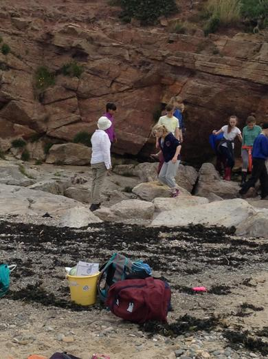 Exploring the different types of rock.