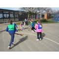 Practising our push pass skills.