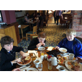 A hearty breakfast to set us up for the day!