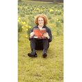 Reading amongst the daffodils!