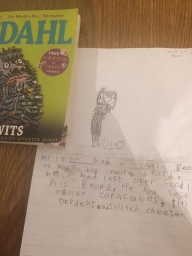 Fab picture and description of Mr Twit, Chloe!